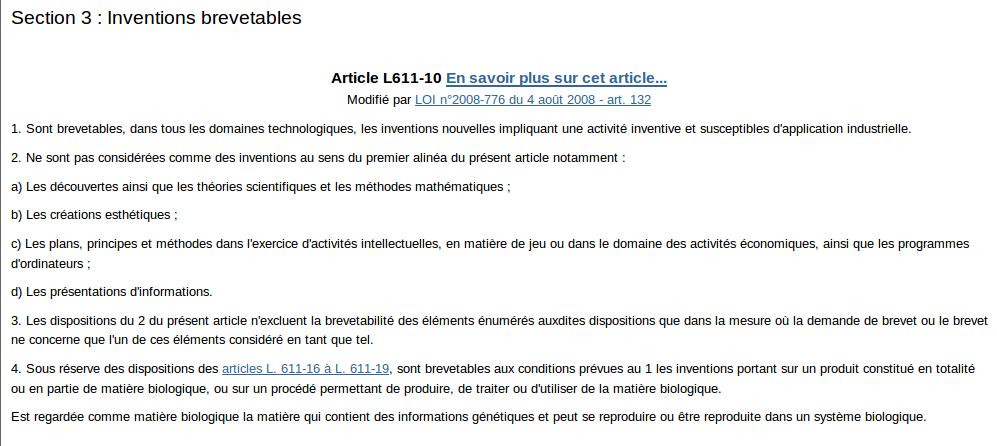 Article-L611-10